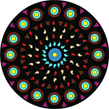 Mandala soleil 1