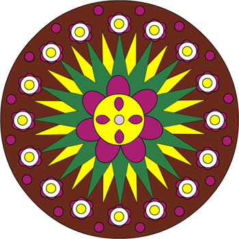 Mandala fleur 1