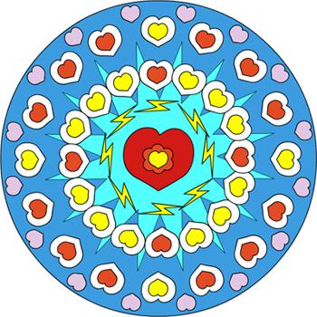 Mandala coeur 1